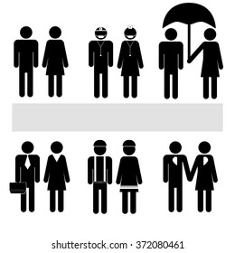 Man People Person Basic Body Professions Posture Stick Figure Pictogram Icon