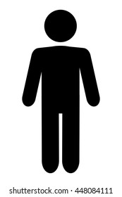man pictogram icon