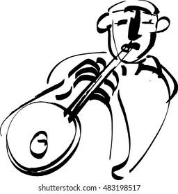 Man play Trumpet