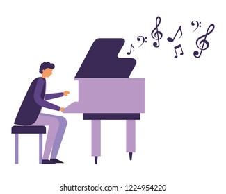 man playing classical piano instrument