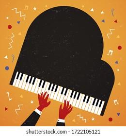 Man playing jazz on Piano