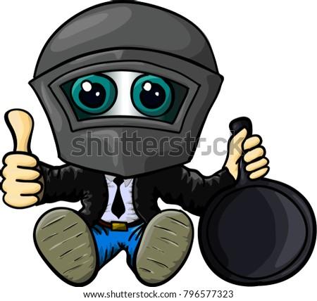 Man Pubg Frying Pan Stock Vector Royalty Free 796577323 Shutterstock