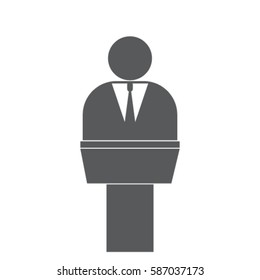 Man in the pulpit vector icon