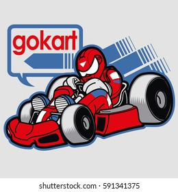 Man racing on gokart