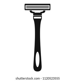 Man razor icon. Simple illustration of man razor vector icon for web design isolated on white background