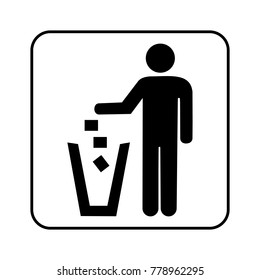 a man and recycle logo