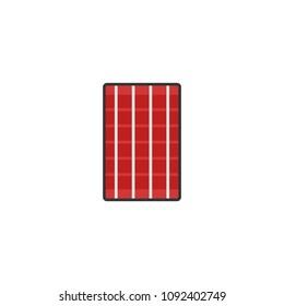 Man red moslem sarong flat simple icon for Ramadan