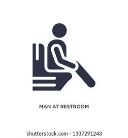 man at restroom isolated icon. Simple element illustration from behavior concept. man at restroom editable logo symbol design on white background. Can be use for web and mobile.