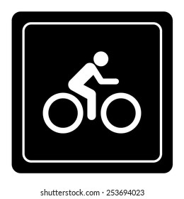 The man Ride Bicycle icon great for any use. Vector EPS10.