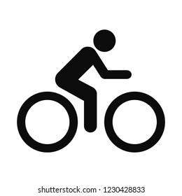 The man ride bicycle icon . Vector illustration