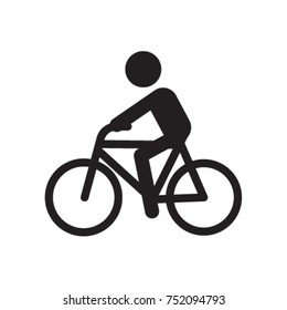 Man Ride A Bike Icon Vector