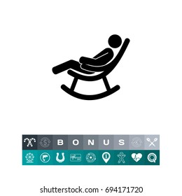 Man in Rocking Chair Icon
