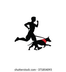 Man Run With Dog