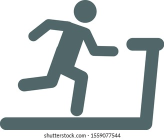 Man run on treadmill icon.