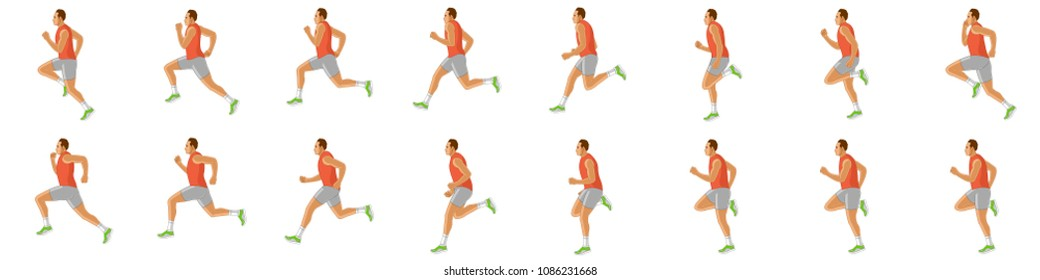 Man running animation sprite sheet