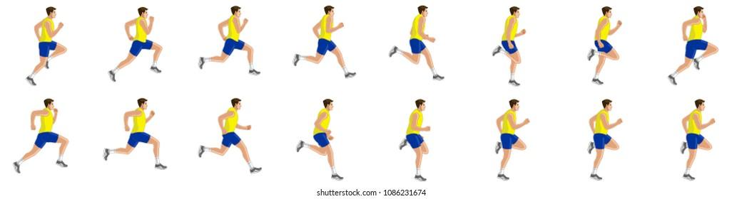 Man running animation sprite sheet