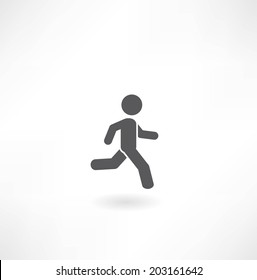man running icon