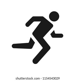 Man Running Icon. Simple design, stroke outline style. Line vector. Isolate on white background.
