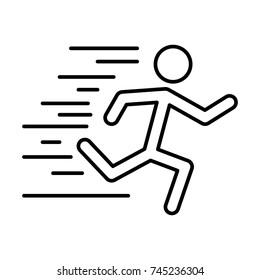 Man running pictogram