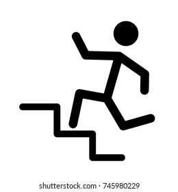 Man running in stairways