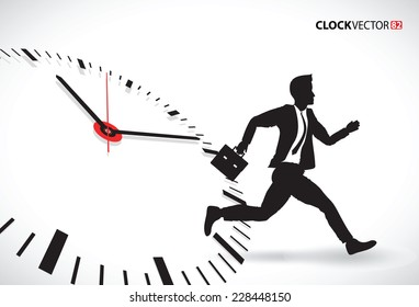 man running trying to beat the clock