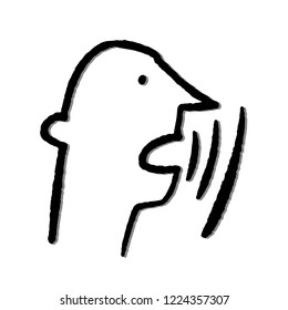 Man says illustration