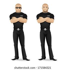 Man security guard of nightclub