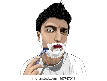 a man shaves art
