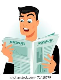 Man shocked while reading newspaper
