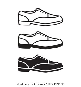 man shoe icon illustration isolated vector sign symbol