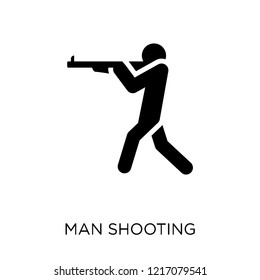 man Shooting icon. man Shooting symbol design from People collection. Simple element vector illustration on white background.