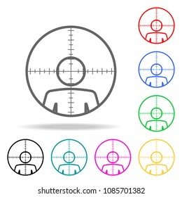 man in sight . Elements of human death in multi colored icons. Premium quality graphic design icon. Simple icon for websites, web design, mobile app, info graphics on white background