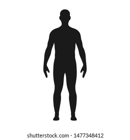 Man silhouette. Illustration of male body silhouette. Vector.