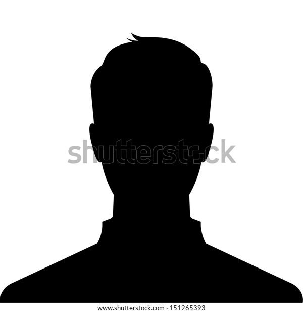 Man silhouette profile picture - vector