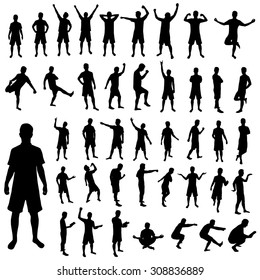 Man silhouette set. Illustration of man silhouette signs vector isolated on white background