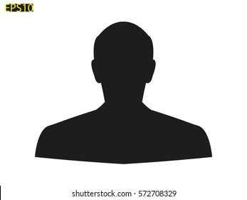 man, silhouette, a user icon, vector illustration eps10