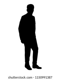 Man silhouette vector. Person concept.