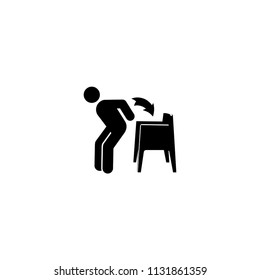 Man sitting on chair sit business vector illustration icon symbol pictogram