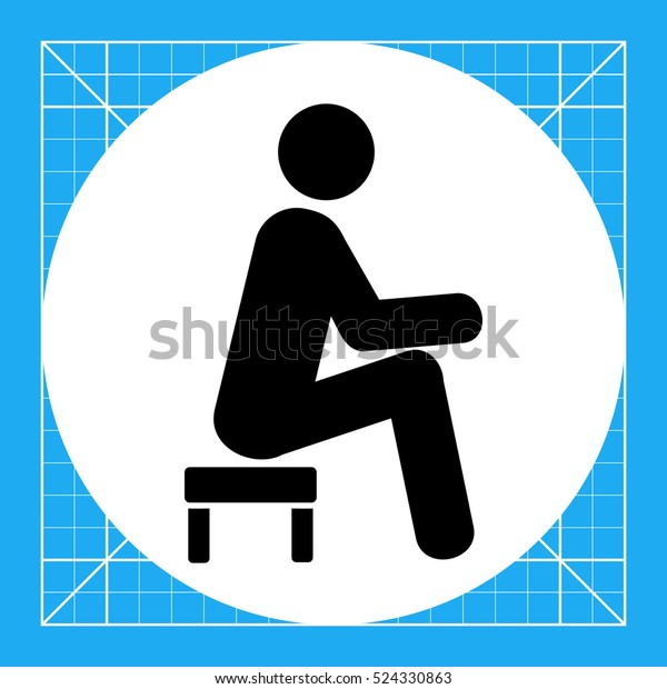 Super Man Sitting On Small Stool Icon Stock Vector Royalty Free Gmtry Best Dining Table And Chair Ideas Images Gmtryco