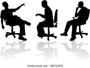 Man in sitting position