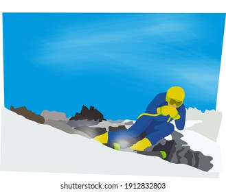 a man skiing on the mountains