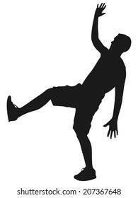 man slip and fall, vector