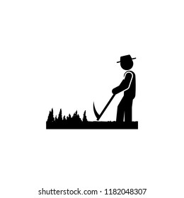 man spit icon. Element of gardening icon for mobile concept and web apps. Glyph spit can be used for web and mobile on white bakgorund