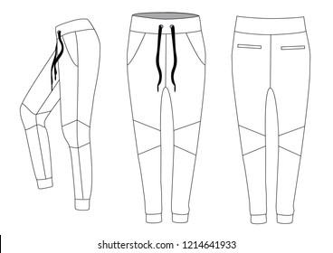 Man sport pants, vector