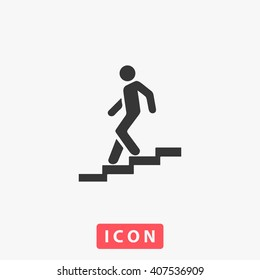 man stairs Icon.