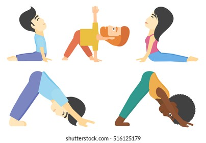 dog pose yoga stock illustrations images  vectors