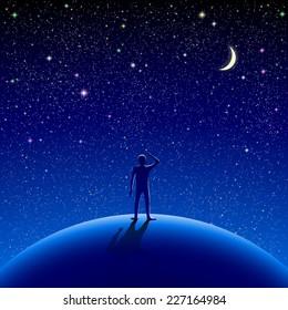 Vectores, imágenes y arte vectorial de stock sobre Stars Nature Sky