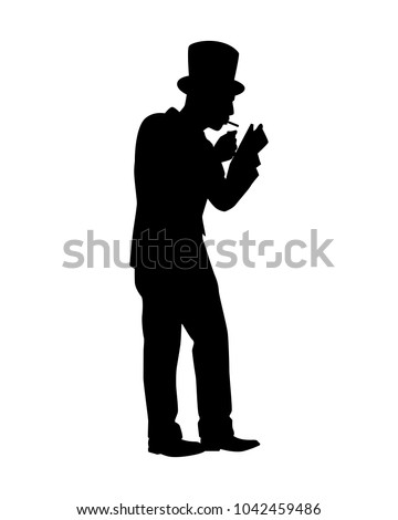 81b5b04d19222 Man Suit Top Hat Silhouette Vector Stock Vector (Royalty Free ...