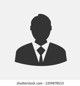Man in suit vector icon