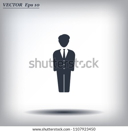 Man Suit Vector Icon Stock Vector (Royalty Free) 1107923450